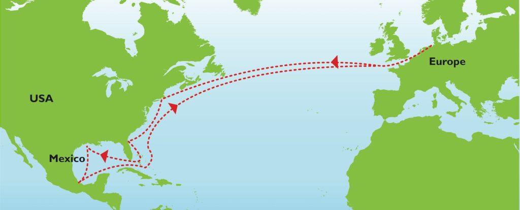 Atlantic Trade Route Map